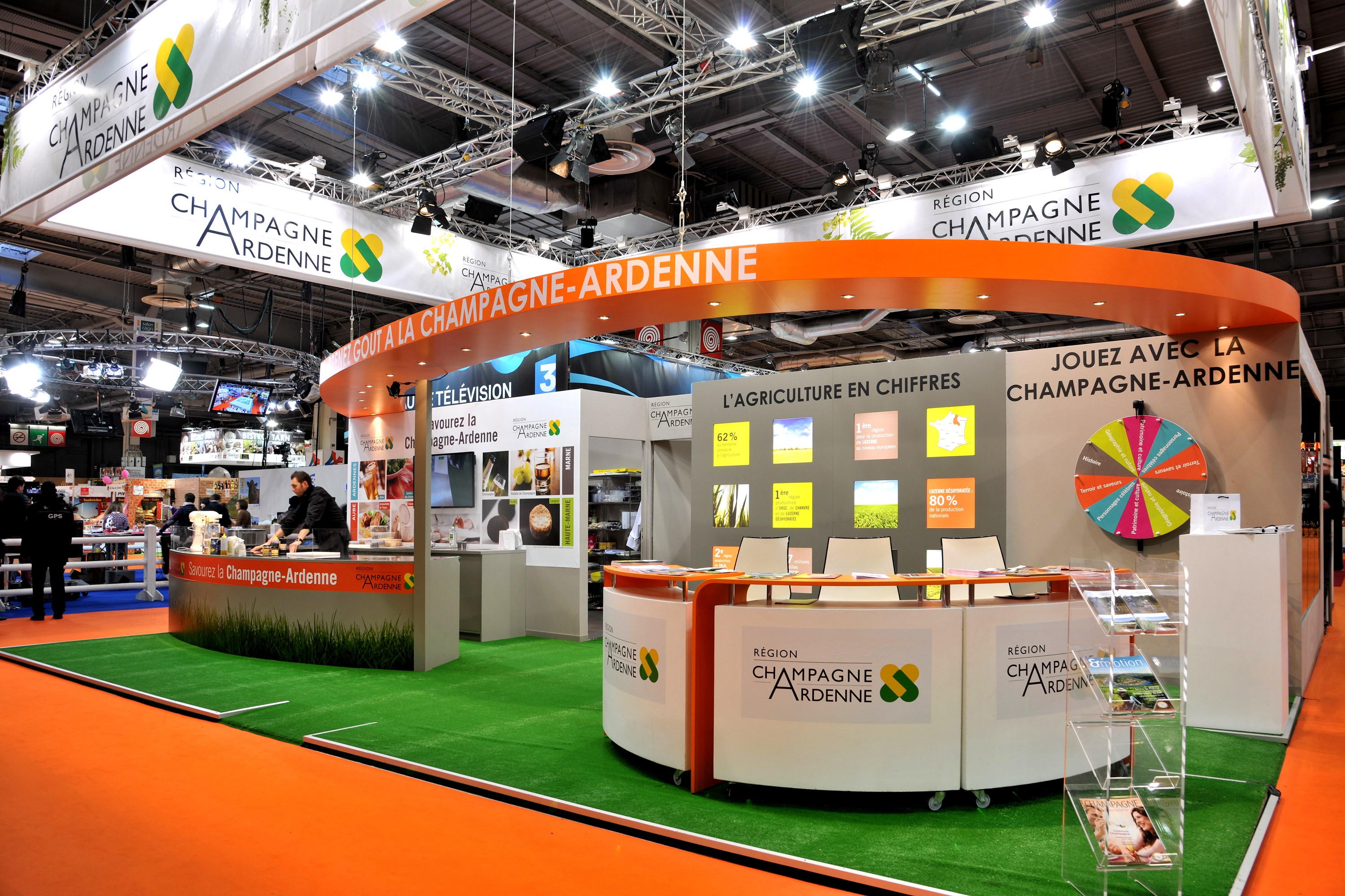 Conception du stand collectif campagne ardennes sia 2015 for Salon agriculture paris 2015